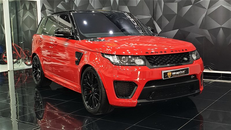 Range Rover Sport - Red Gloss wrap - cover small