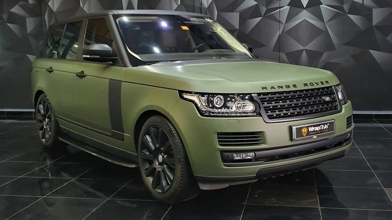 Range Rover Vogue - Green Matt wrap - cover small