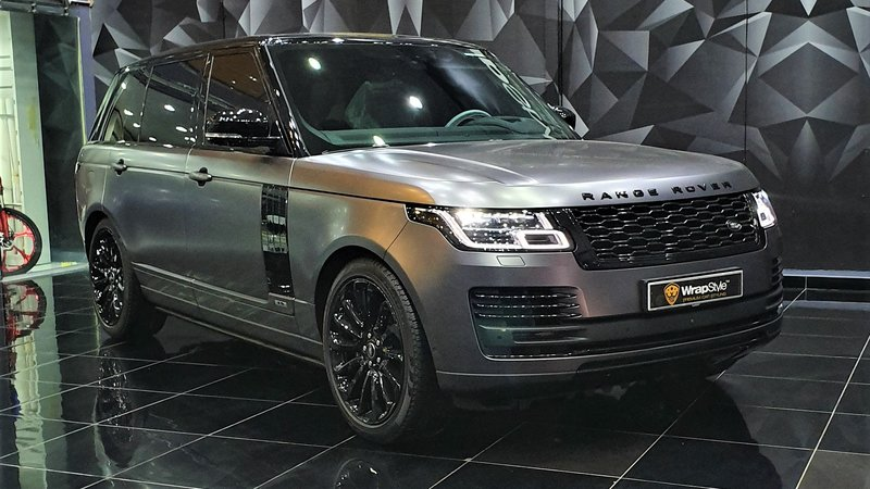 Range Rover Vogue - Grey Satin wrap - cover small