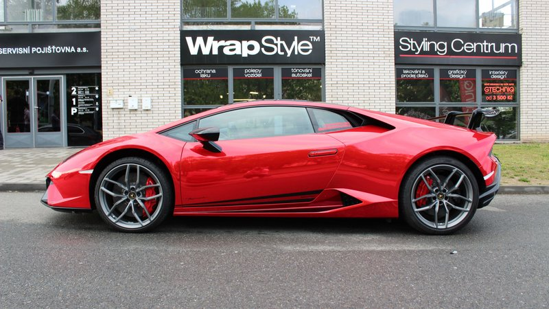 Lamborghini Huracan - Red Chrome wrap - img 2 small