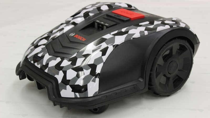 Robotic Lawn Mower - Wrapstyle design - cover small