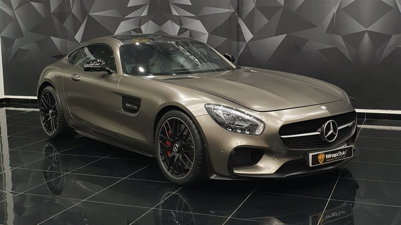 Mercedes AMG GT - Beige Satin wrap - cover small