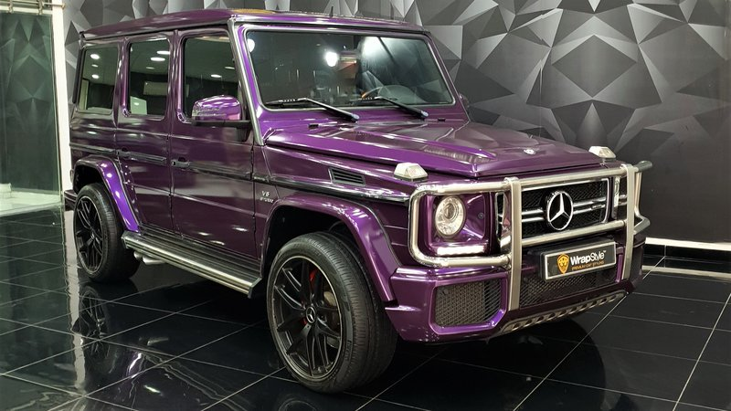 Mercedes G - Purple Gloss wrap - cover small