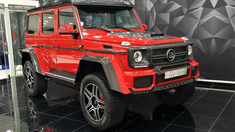Mercedes G - Red Gloss wrap - cover small