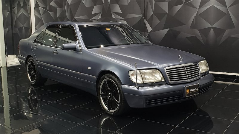 Mercedes S500 - Grey Satin wrap - cover small