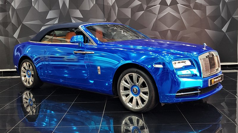 Rolls-Royce Dawn - Blue Chrome wrap - cover small