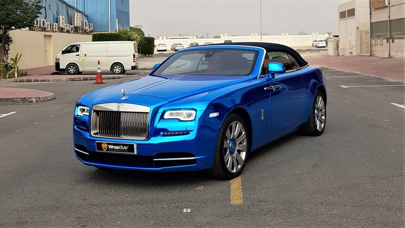 Rolls-Royce Dawn - Blue Chrome wrap - img 1 small