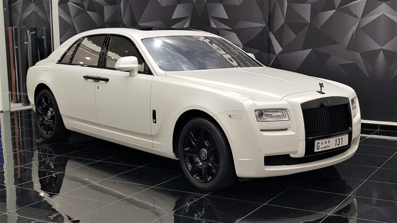 Rolls-Royce Ghost - White Satin wrap - cover small