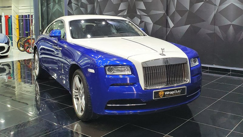 Rolls-Royce Wraith - Blue Pearl wrap - cover small