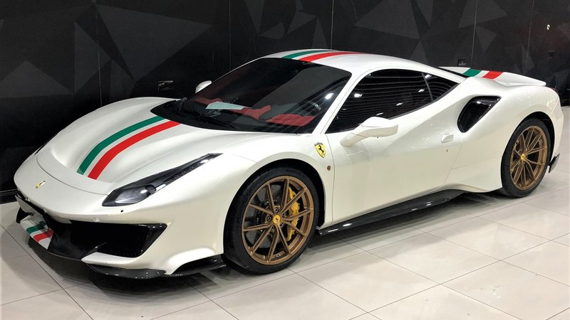 Ferrari 488 Pista - Italian Stripes design - cover small
