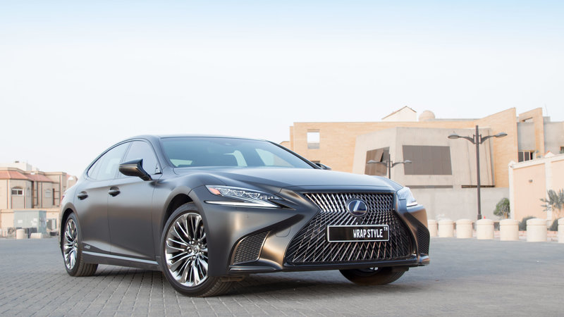 Lexus LS500h - Black Matt wrap
