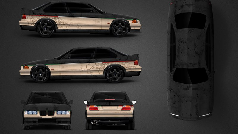 BMW E46 M3 - Lusso Caffee design - cover small