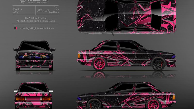 BMW E30 - Abstract Zigzag design - img 1 small