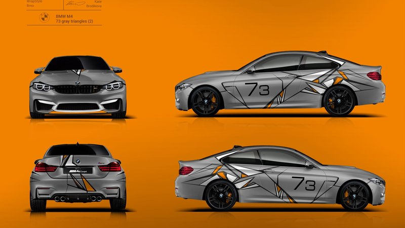 BMW M4 Race - 73 Gray Triangles design