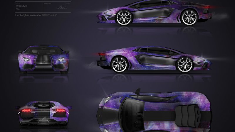 Lamborghini Aventador - Galaxy design - cover small