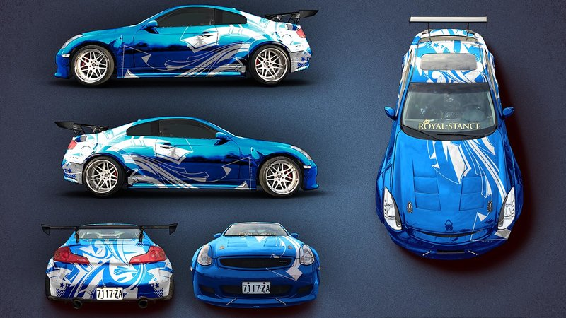Nissan Skyline G35 -Graffiti Arrow Chrome design