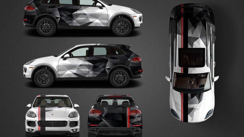 Porsche Cayenne - Camouflage design