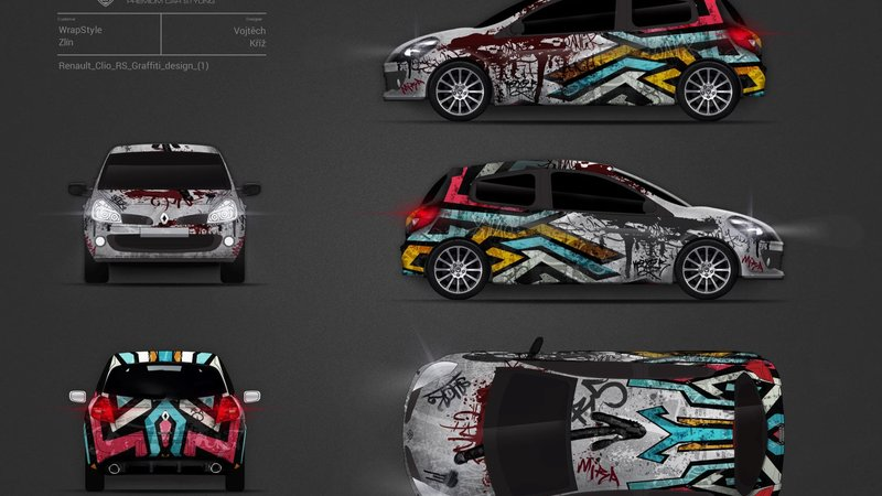 Renault Clio RS - Abstract design
