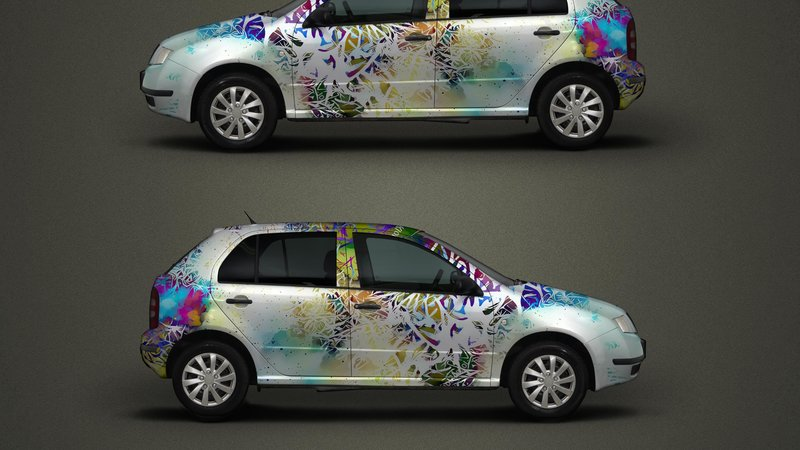 Skoda Fabia - Colourful Jungle design