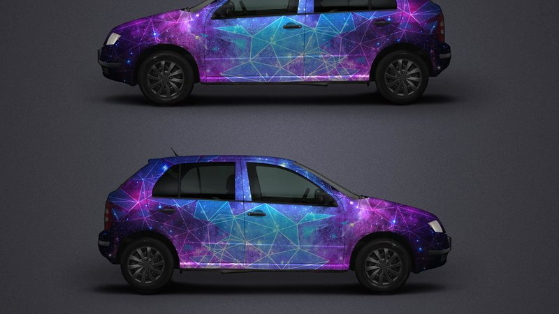 Skoda Fabia - Galaxy Triangles design