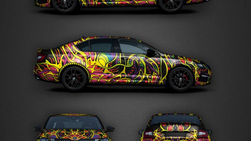 Skoda Octavia RS - Psychedelic design - cover small