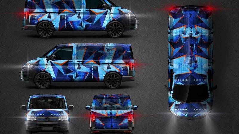 Volkswagen Transporter - Pop Steel Camo design