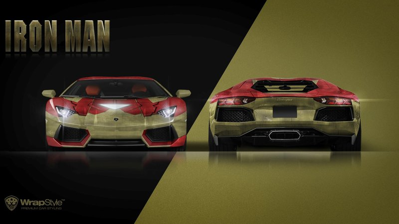Lamborghini Aventador - IronMan design - cover small