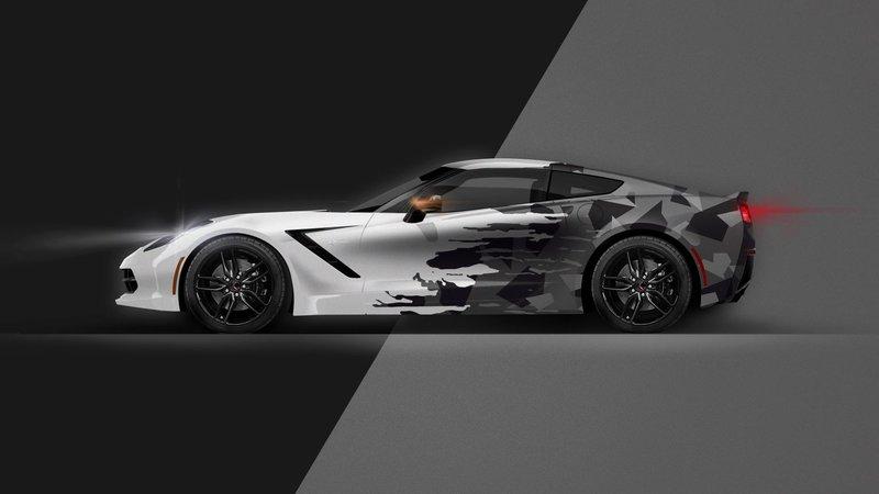 Chevrolet Corvette - Half Camo design
