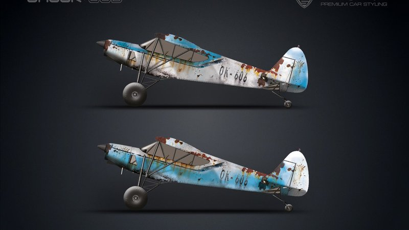 Airplane - Rusty design - cover small