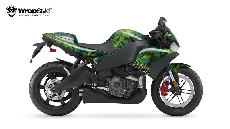 Buell 1125 CR - Green Snake design