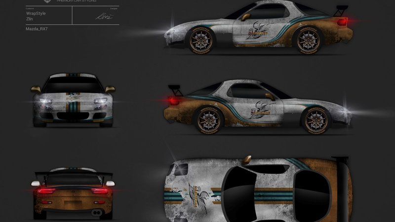 Mazda RX7 - Martini design