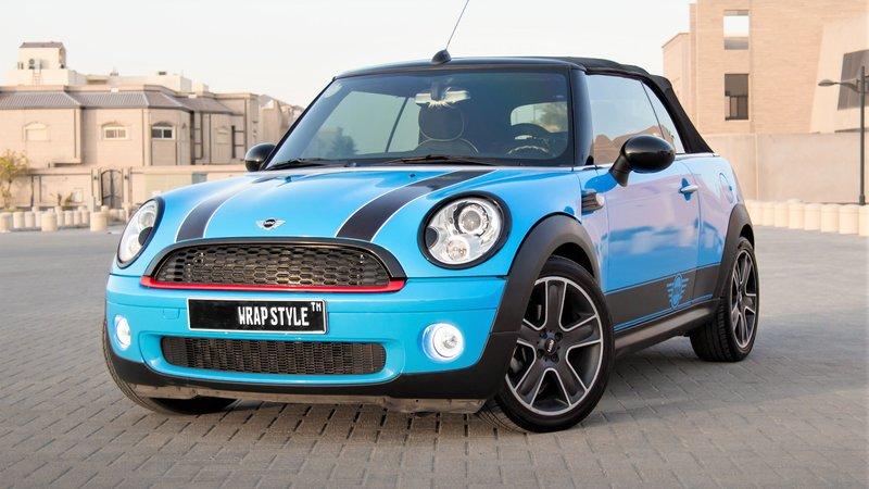 Mini Cabrio - Blue Gloss wrap