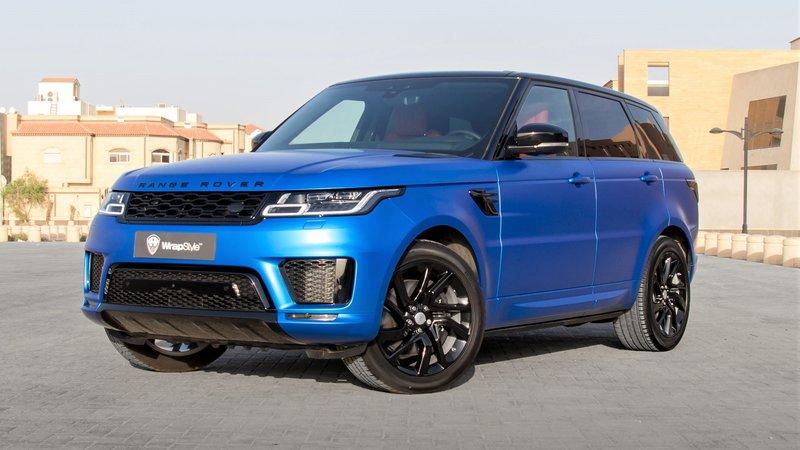 Range Rover Sport - Blue Satin wrap
