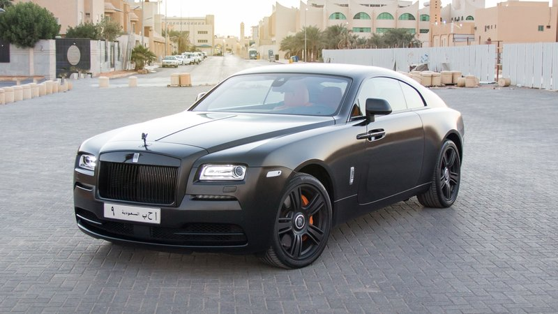 Rolls-Royce Wraith - Black Satin wrap