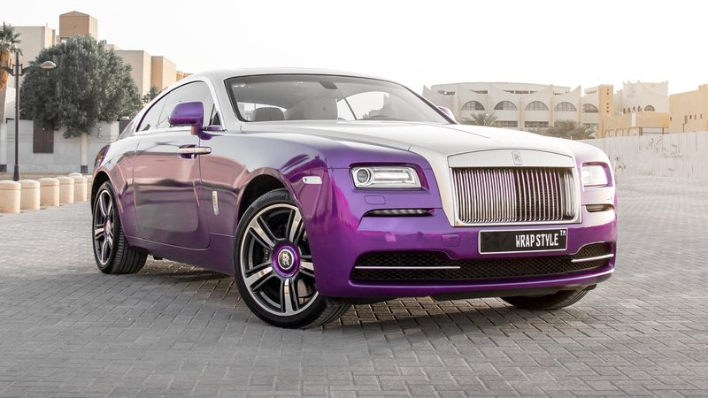 Rolls-Royce Wraith - Purple Gloss wrap