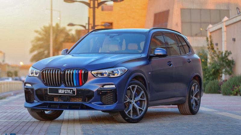 BMW X5 - Blue Matt wrap