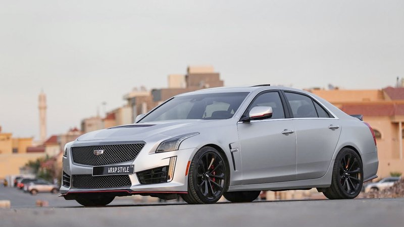 Cadillac CTS V - Grey Matt wrap