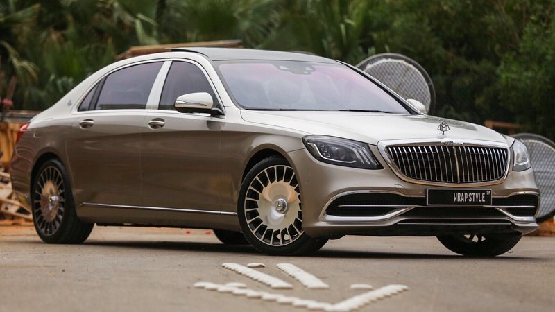 Mercedes Maybach - Beige Gloss wrap - cover small
