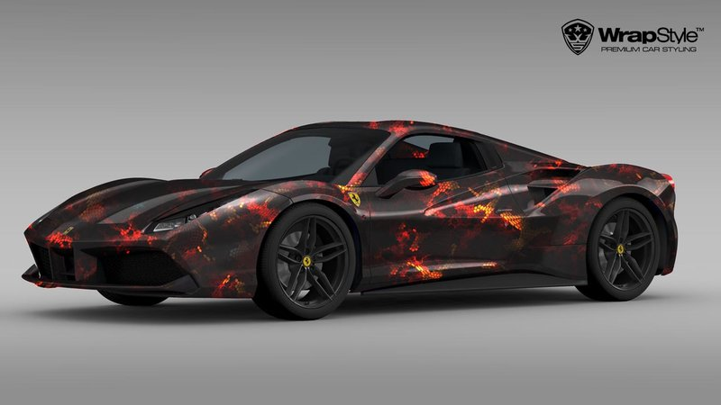 Ferrari 488 Spider - Hexa design