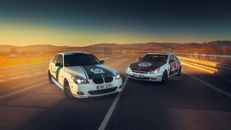 BMW 5 e60 + Mercedes-Benz CLS - Police Design