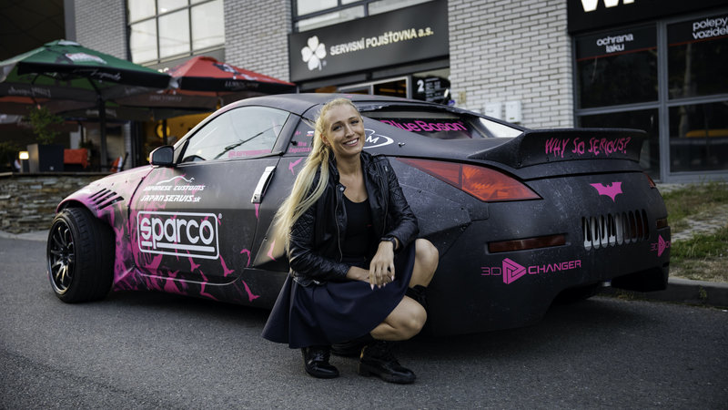 Toyota Supra and Nissan 350z - Lady Hoonigan WrapStock Bat Girl Design - img 1 small