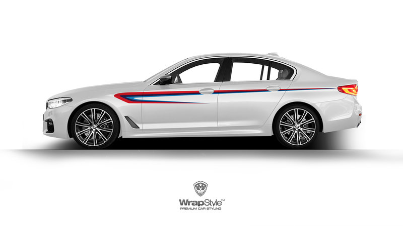 BMW 5 - BMW Stripes Decal Design