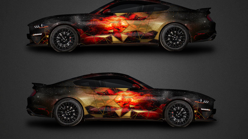 Ford Mustang - Triangle Galaxy design