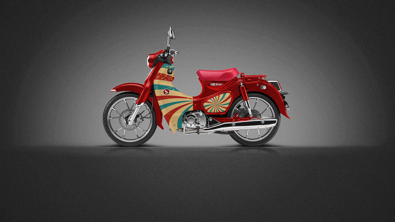 Honda CUB - Retro design