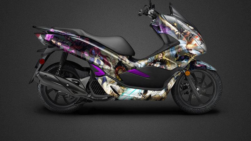 Honda PCX - Marvel design