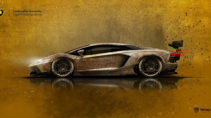 Lamborghini Aventador - Egyp Mythology design