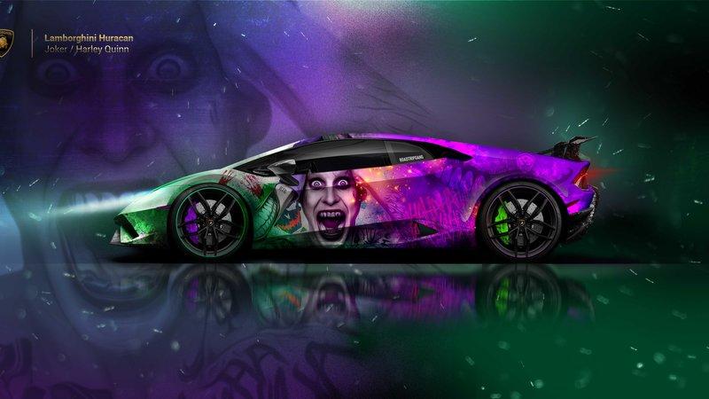 Lamborghini Huracan - Joker - Harley Quinn design