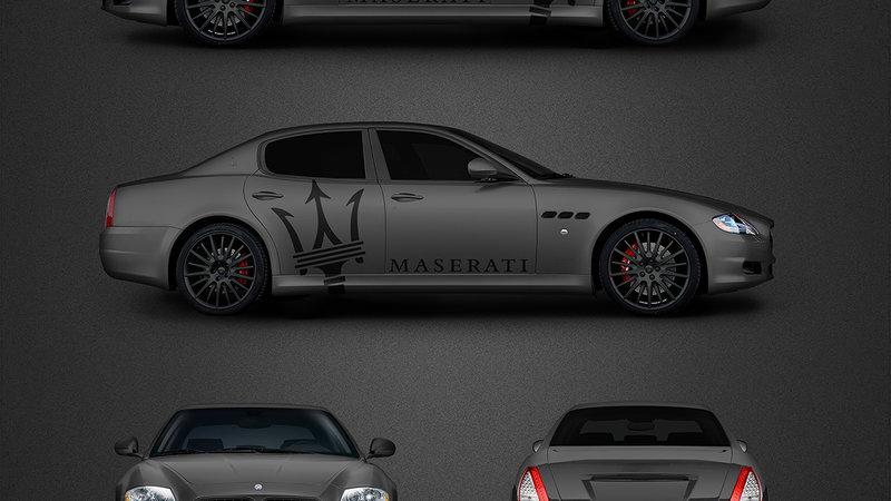 Maserati Quattroporte - Maserati decals design