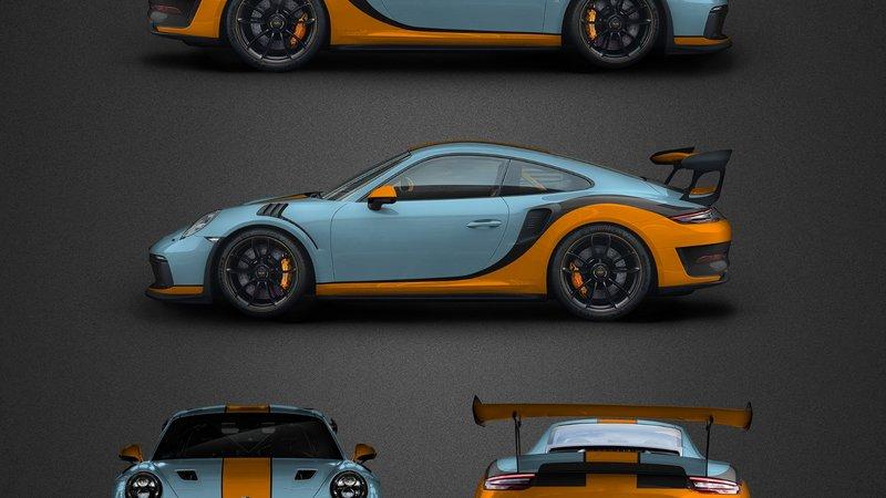 Porsche 911 GT3 RSR - Gulf design