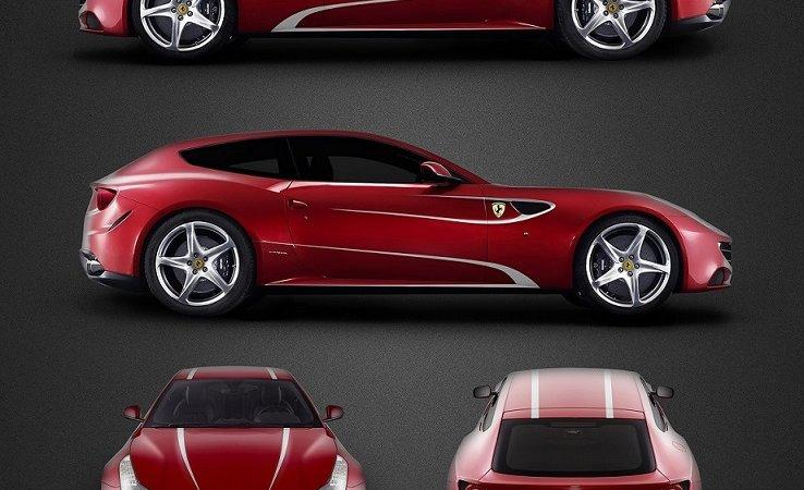 Ferrari FF - White stripes decals